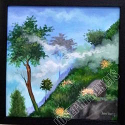 landscape kerala, 12 x 12 inch, joseph francis,12x12inch,canvas,paintings,landscape paintings,acrylic color,GAL01304426020