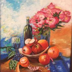 still life, 18 x 24 inch, puja puja,18x24inch,canvas,paintings,still life paintings,acrylic color,GAL01525726026