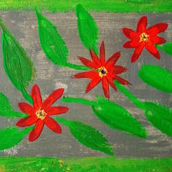 flower art, 12 x 9 inch, minakhi choudhury,12x9inch,canvas,paintings,flower paintings,folk art paintings,paintings for living room,paintings for bedroom,mixed media,GAL01441426037