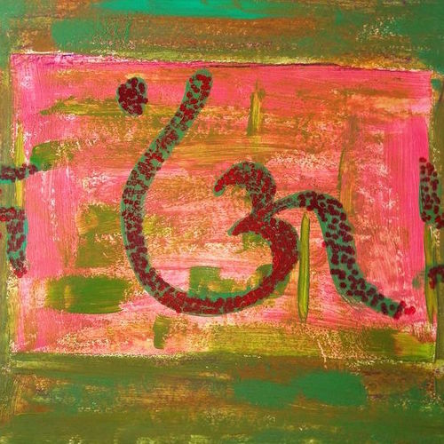 om wax art, 15 x 9 inch, minakhi choudhury,15x9inch,thick paper,paintings,religious paintings,paintings for living room,paintings for office,mixed media,GAL01441426040