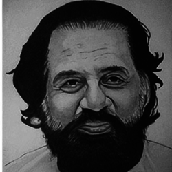 k.j. yesudas-singer , 11 x 15 inch, shivkumar  menon,portrait paintings,paintings for living room,figurative drawings,drawing paper,graphite pencil,11x15inch,GAL09862605