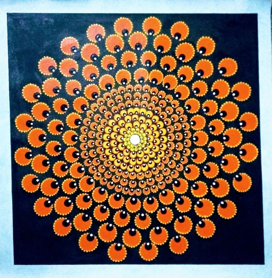 mandala art, 20 x 20 inch, geeta kwatra,20x20inch,canvas,paintings,abstract paintings,paintings for living room,paintings for office,paintings for hotel,acrylic color,GAL0899126060