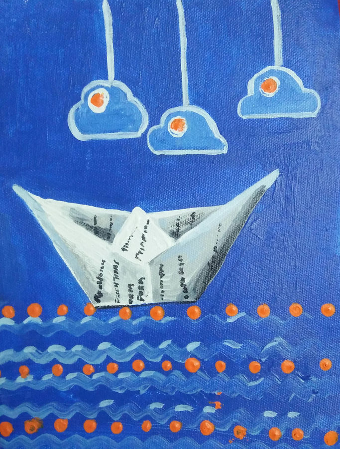boat painting, 8 x 10 inch, priyanka bhise,8x10inch,canvas,paintings,modern art paintings,paintings for dining room,paintings for living room,paintings for bedroom,paintings for office,paintings for bathroom,paintings for kids room,paintings for hotel,paintings for kitchen,paintings for school,acrylic color,GAL01495026069