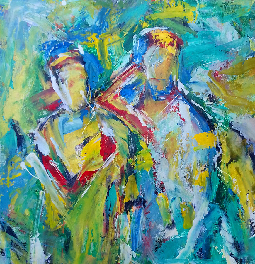 duo, 23 x 23 inch, prasanta acharjee,23x23inch,canvas,paintings,abstract paintings,figurative paintings,modern art paintings,conceptual paintings,abstract expressionism paintings,expressionism paintings,paintings for dining room,paintings for living room,paintings for bedroom,paintings for office,paintings for kids room,paintings for hotel,paintings for hospital,paintings for dining room,paintings for living room,paintings for bedroom,paintings for office,paintings for kids room,paintings for hotel,paintings for hospital,acrylic color,GAL0360526074