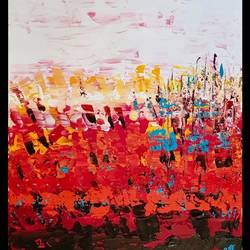 abstract painting #1, 16 x 20 inch, sanjoli  patni,16x20inch,canvas board,abstract paintings,acrylic color,GAL01542226108