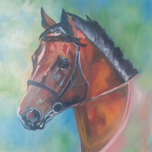 emotion of the horse, 18 x 18 inch, archana oswal,18x18inch,canvas board,paintings,wildlife paintings,animal paintings,horse paintings,paintings for dining room,paintings for living room,paintings for bedroom,paintings for office,paintings for kids room,paintings for hotel,paintings for school,paintings for hospital,oil color,GAL01469326120