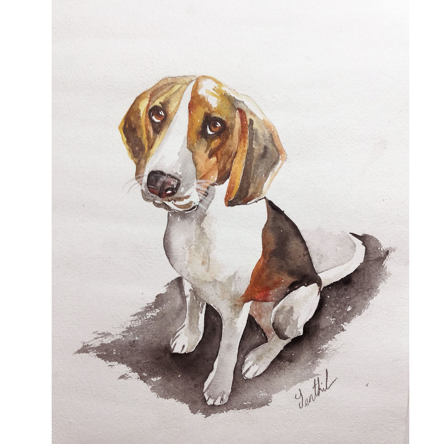 pet potrait, 11 x 115 inch, senthil kumar a,11x115inch,thick paper,paintings,wildlife paintings,nature paintings,animal paintings,dog painting,paintings for living room,paintings for bedroom,paintings for office,paintings for kids room,paintings for hotel,paintings for kitchen,paintings for school,paintings for hospital,acrylic color,mixed media,watercolor,paper,GAL01543426125,dog,pet
