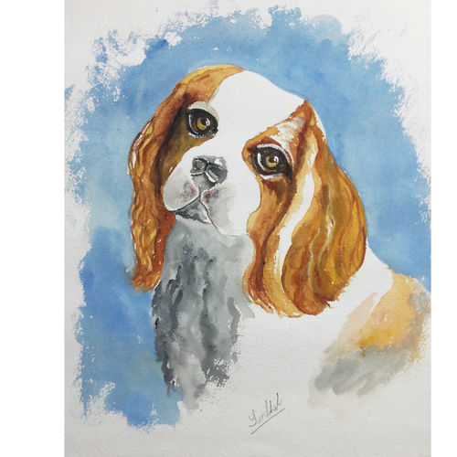 pet potrait, 11 x 15 inch, senthil kumar a,11x15inch,thick paper,paintings,wildlife paintings,animal paintings,dog painting,paintings for dining room,paintings for living room,paintings for bedroom,paintings for office,paintings for kids room,paintings for hotel,paintings for school,paintings for hospital,acrylic color,watercolor,GAL01543426127