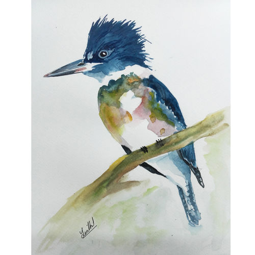 wild life portrait , 8 x 12 inch, senthil kumar a,8x12inch,thick paper,paintings,wildlife paintings,nature paintings,portraiture,paintings for dining room,paintings for living room,paintings for bedroom,paintings for office,paintings for kids room,paintings for hotel,paintings for kitchen,paintings for school,paintings for hospital,acrylic color,watercolor,GAL01543426130