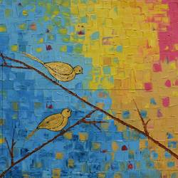 friends, 31 x 24 inch, vijaya chavan,31x24inch,canvas,paintings,abstract paintings,wildlife paintings,modern art paintings,conceptual paintings,abstract expressionism paintings,art deco paintings,contemporary paintings,paintings for dining room,paintings for living room,paintings for bedroom,paintings for office,paintings for bathroom,paintings for kids room,paintings for hotel,paintings for kitchen,paintings for school,paintings for hospital,acrylic color,GAL01546626162