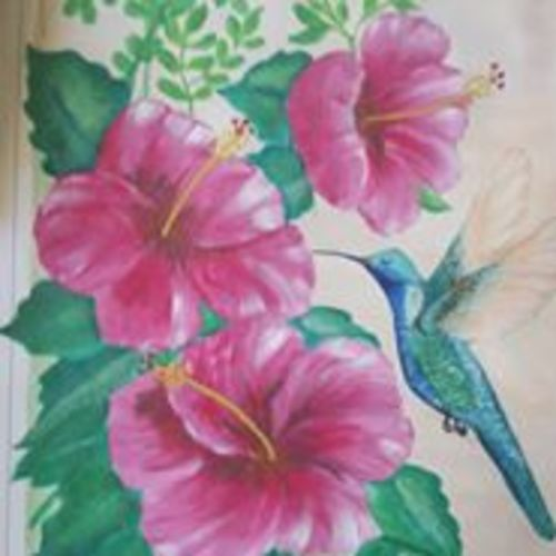 humming bird, 13 x 17 inch, silvia corda,13x17inch,thick paper,paintings,flower paintings,nature paintings,animal paintings,paintings for dining room,paintings for living room,paintings for bedroom,paintings for office,paintings for bathroom,paintings for kids room,paintings for hotel,paintings for kitchen,paintings for school,paintings for hospital,acrylic color,GAL01547026171