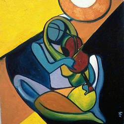 rhythm of passion, 12 x 18 inch, arpita  roy,12x18inch,canvas,paintings,abstract paintings,paintings for living room,paintings for bedroom,paintings for hotel,oil color,GAL0977026178
