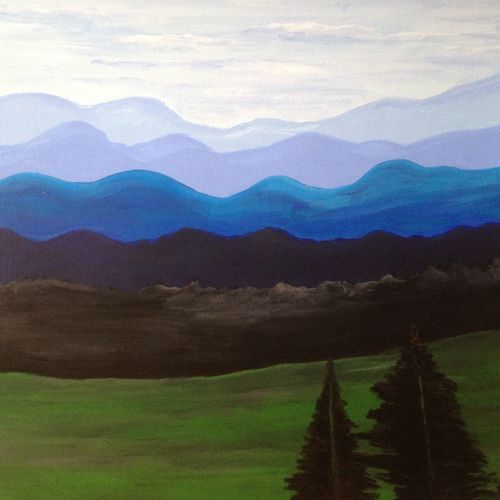 fascinating ranges of mountains, 16 x 12 inch, promila singh,16x12inch,thick paper,paintings,nature paintings,paintings for hospital,acrylic color,GAL0823226190