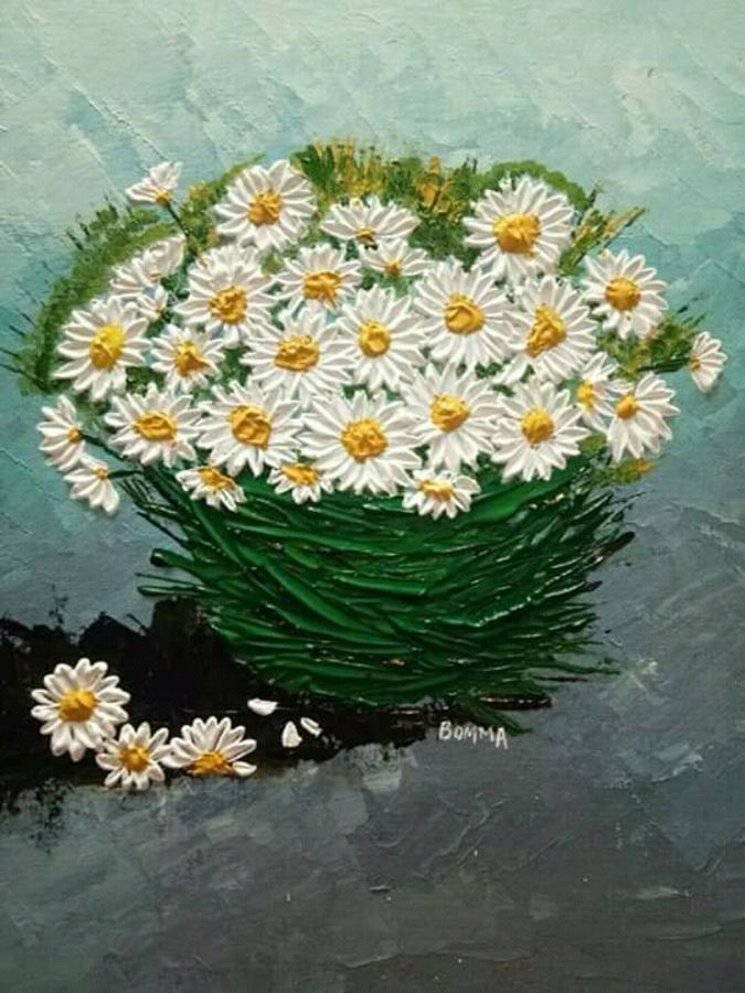 flower basket, 14 x 18 inch, dr basavaraj  bommanahalli ,14x18inch,canvas,paintings,abstract paintings,acrylic color,GAL01352626194