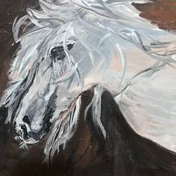 horse painting, 18 x 24 inch, aindrila biswas,18x24inch,canvas,paintings,wildlife paintings,paintings for dining room,paintings for living room,acrylic color,GAL01480726196