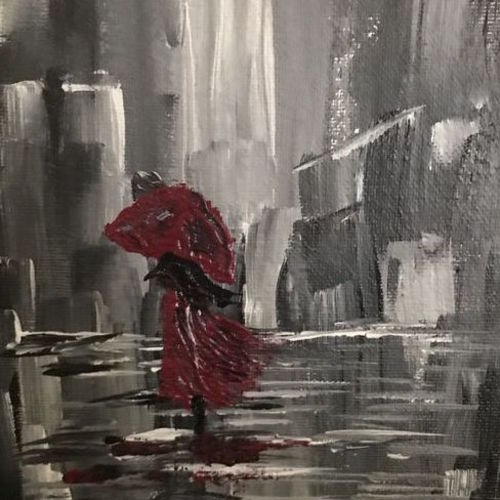 a walk in the rain step by step, 12 x 18 inch, aindrila biswas,12x18inch,canvas,abstract paintings,paintings for dining room,paintings for living room,paintings for bedroom,paintings for dining room,paintings for living room,paintings for bedroom,acrylic color,GAL01480726207