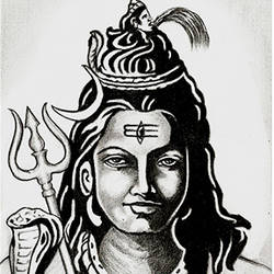 lord shiva, 8 x 11 inch, shivkumar  menon,portrait drawings,paintings for living room,religious paintings,lord shiva paintings,drawing paper,graphite pencil,8x11inch,GAL09862621