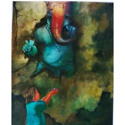 innocent prayer, 18 x 24 inch, arpita biswas dasgupta,18x24inch,ivory sheet,paintings,religious paintings,paintings for dining room,paintings for living room,paintings for bedroom,paintings for office,paintings for kids room,paintings for hotel,paintings for school,paintings for hospital,paintings for dining room,paintings for living room,paintings for bedroom,paintings for office,paintings for kids room,paintings for hotel,paintings for school,paintings for hospital,acrylic color,paper,GAL01013626227,ganpati bappa morya,ganesh chaturthi,ganesh murti,elephant god,religious,lord ganesh,ganesha,om,hindu god,shiv parvati, putra,bhakti,blessings,aashirwad,pooja,puja,aarti,ekdant,vakratunda,lambodara,bhalchandra,gajanan,vinayak,prathamesh,vignesh,heramba,siddhivinayak,mahaganpati,omkar,mushak,mouse,ladoo,modak