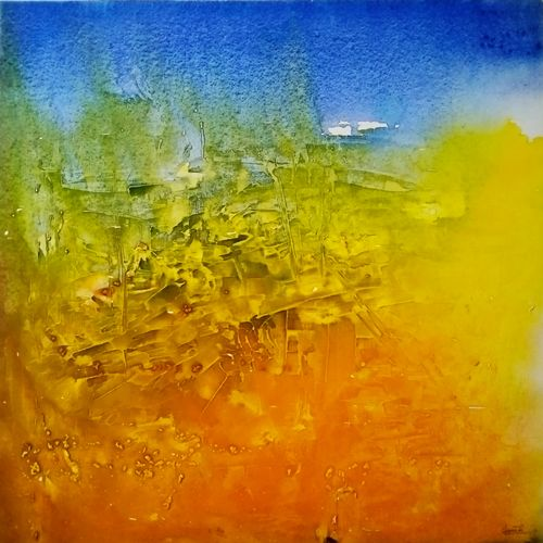 engulfed city, 25 x 25 inch, unnati s khare ,25x25inch,canvas,paintings,abstract paintings,paintings for dining room,paintings for living room,paintings for bedroom,paintings for office,paintings for bathroom,paintings for kids room,paintings for hotel,paintings for kitchen,paintings for school,paintings for hospital,acrylic color,GAL01401626234