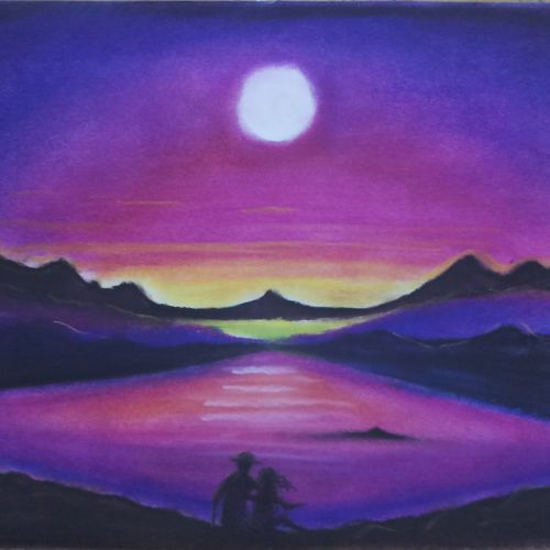 beautiful landscape with river and mountain, 12 x 16 inch, sandhya kumari,12x16inch,canson paper,paintings,landscape paintings,conceptual paintings,nature paintings   scenery paintings,love paintings,paintings for dining room,paintings for living room,paintings for bedroom,paintings for office,paintings for kids room,paintings for hotel,paintings for kitchen,paintings for school,paintings for hospital,pastel color,GAL0365926236