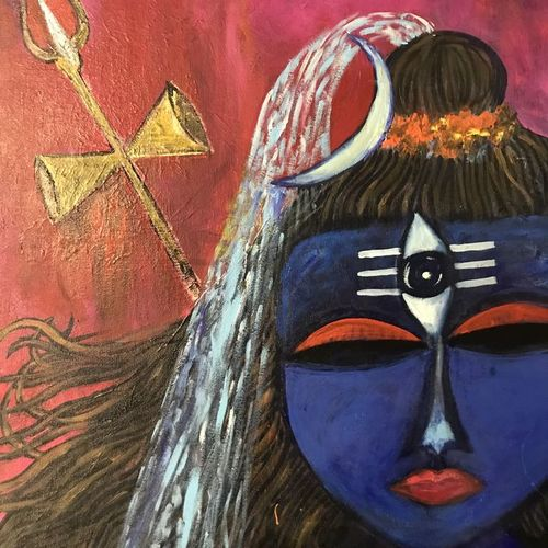 shiva , 20 x 24 inch, anuradha bansal,20x24inch,canvas,figurative paintings,religious paintings,lord shiva paintings,paintings for dining room,paintings for living room,paintings for bedroom,paintings for office,paintings for hotel,paintings for school,paintings for hospital,paintings for dining room,paintings for living room,paintings for bedroom,paintings for office,paintings for hotel,paintings for school,paintings for hospital,acrylic color,GAL01557826238