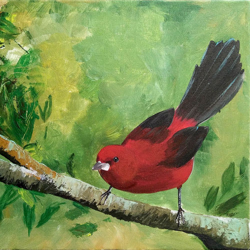 grace and dignity, 18 x 16 inch, n paul,nature paintings,paintings for dining room,canvas,acrylic color,18x16inch,GAL09372624Nature,environment,Beauty,scenery,greenery