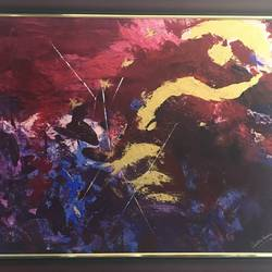 jardin de la vie ( garden of life), 42 x 30 inch, charru kinra,42x30inch,canvas,paintings,abstract paintings,acrylic color,GAL01559126252