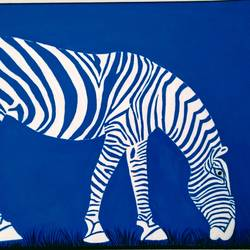 white zebra, 15 x 11 inch, geeta kwatra,15x11inch,handmade paper,paintings,abstract paintings,animal paintings,paintings for living room,paintings for kids room,paintings for hotel,paintings for school,acrylic color,GAL0899126258