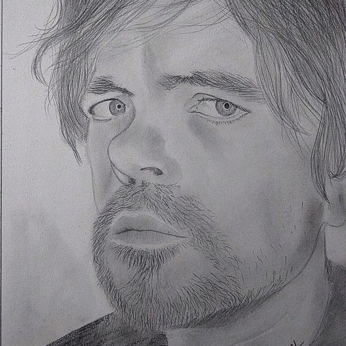 peter dinklage pencil sketch, 9 x 12 inch, neha musale,9x12inch,paper,drawings,portrait drawings,paintings for living room,paintings for kids room,graphite pencil,paper,GAL01557726261