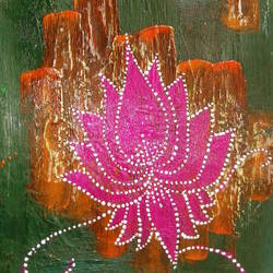 kamal phool, 10 x 20 inch, minakhi choudhury,10x20inch,canvas,flower paintings,religious paintings,paintings for dining room,paintings for living room,paintings for dining room,paintings for living room,acrylic color,mixed media,poster color,GAL01441426267