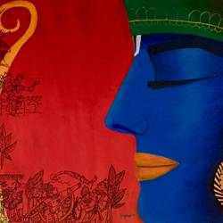 lord ram and ramayan , 42 x 28 inch, kangana vohra,42x28inch,canvas,paintings,figurative paintings,folk art paintings,modern art paintings,conceptual paintings,religious paintings,portrait paintings,expressionism paintings,ganesha paintings | lord ganesh paintings,radha krishna paintings,contemporary paintings,love paintings,lord shiva paintings,kalamkari painting,paintings for dining room,paintings for living room,paintings for bedroom,paintings for office,paintings for kids room,paintings for hotel,paintings for school,paintings for hospital,acrylic color,ink color,pen color,GAL0725826284,krishna,Lord krishna,krushna,radha krushna,flute,peacock feather,melody,peace,religious,god,love,romance