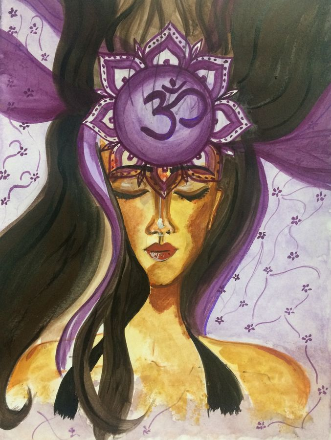 sahasrara, 9 x 12 inch, kinjal chowdhury,9x12inch,thick paper,paintings,abstract paintings,conceptual paintings,expressionism paintings,paintings for living room,paintings for office,paintings for bathroom,paintings for hotel,paintings for hospital,acrylic color,paper,GAL01565926307