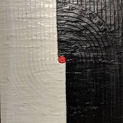 red dot, 12 x 15 inch, amruta andre,12x15inch,wood board,paintings,abstract paintings,modern art paintings,conceptual paintings,paintings for dining room,paintings for living room,paintings for bedroom,paintings for office,paintings for hotel,acrylic color,mixed media,GAL01288226310