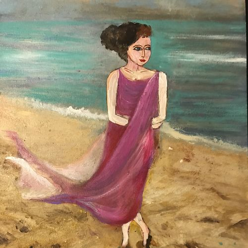 walk on the beach, 12 x 18 inch, anuradha bansal,12x18inch,brustro watercolor paper,paintings,figurative paintings,cityscape paintings,landscape paintings,portrait paintings,nature paintings | scenery paintings,paintings for dining room,paintings for living room,paintings for bedroom,paintings for office,paintings for bathroom,paintings for hotel,paintings for school,paintings for hospital,acrylic color,oil color,GAL01557826313