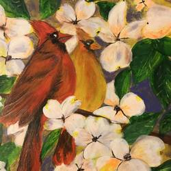 bird couple , 12 x 18 inch, anuradha bansal,12x18inch,thick paper,paintings,nature paintings | scenery paintings,paintings for dining room,paintings for living room,paintings for bedroom,paintings for office,paintings for bathroom,paintings for kids room,paintings for hotel,paintings for school,paintings for hospital,acrylic color,GAL01557826315