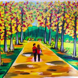 love painting, 24 x 18 inch, vimal drall,24x18inch,canvas,paintings,nature paintings | scenery paintings,love paintings,paintings for living room,paintings for bedroom,acrylic color,GAL01417726337