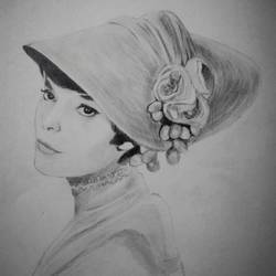 lady in a hat, 9 x 12 inch, neha musale,9x12inch,paper,drawings,portrait drawings,paintings for living room,paintings for office,paintings for hotel,graphite pencil,paper,GAL01557726342