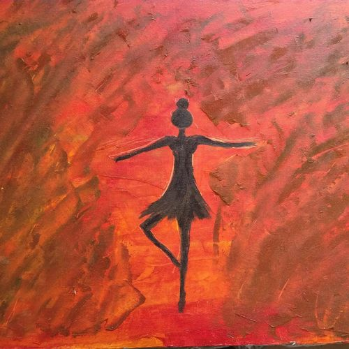solitary dancer, 18 x 24 inch, aastika saxena,18x24inch,canvas,paintings,abstract paintings,figurative paintings,paintings for dining room,paintings for living room,paintings for bedroom,paintings for office,paintings for hotel,oil color,GAL01549526348