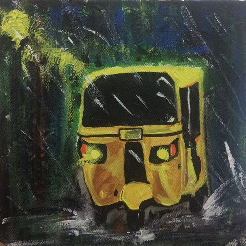 auto in rainy night, 7 x 7 inch, kinjal chowdhury,7x7inch,canvas,paintings,abstract paintings,still life paintings,nature paintings | scenery paintings,art deco paintings,paintings for dining room,paintings for living room,paintings for bedroom,paintings for office,paintings for kids room,paintings for hotel,paintings for hospital,acrylic color,GAL01565926350