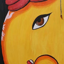 lord ganesha , 9 x 14 inch, poornima sahu,9x14inch,drawing paper,religious paintings,ganesha paintings | lord ganesh paintings,paintings for office,paintings for hotel,paintings for school,paintings for office,paintings for hotel,paintings for school,acrylic color,GAL0447126371