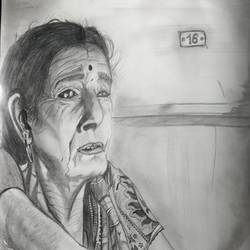 keep thinking, 8 x 12 inch, karan dhangar,8x12inch,paper,drawings,expressionism drawings,portrait drawings,realism drawings,paintings for living room,paintings for office,paintings for hotel,pencil color,GAL01556226406