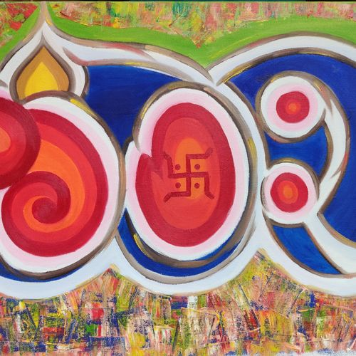 abstract ganeshji, 24 x 16 inch, pallavi parihar,24x16inch,canvas,paintings,abstract paintings,modern art paintings,religious paintings,ganesha paintings | lord ganesh paintings,paintings for dining room,paintings for living room,paintings for bedroom,paintings for office,paintings for hotel,paintings for school,paintings for hospital,paintings for dining room,paintings for living room,paintings for bedroom,paintings for office,paintings for hotel,paintings for school,paintings for hospital,oil color,GAL0677926413