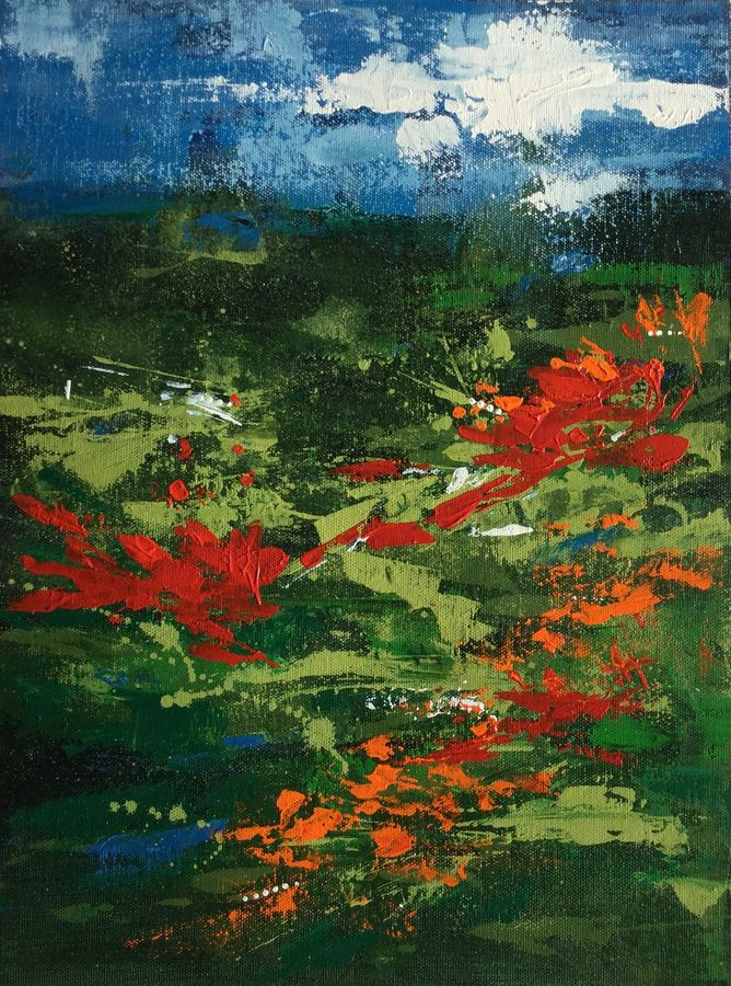 blooms, 15 x 11 inch, aparna joshi,15x11inch,canvas,paintings,abstract paintings,flower paintings,landscape paintings,conceptual paintings,nature paintings | scenery paintings,abstract expressionism paintings,expressionism paintings,impressionist paintings,paintings for dining room,paintings for living room,paintings for bedroom,paintings for office,paintings for kids room,paintings for hotel,paintings for kitchen,paintings for hospital,acrylic color,GAL01573626428