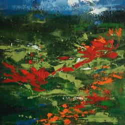 blooms, 15 x 11 inch, aparna joshi,15x11inch,canvas,paintings,abstract paintings,flower paintings,landscape paintings,conceptual paintings,nature paintings   scenery paintings,abstract expressionism paintings,expressionism paintings,impressionist paintings,paintings for dining room,paintings for living room,paintings for bedroom,paintings for office,paintings for kids room,paintings for hotel,paintings for kitchen,paintings for hospital,acrylic color,GAL01573626428