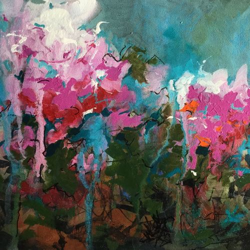garden, 16 x 12 inch, aparna joshi,16x12inch,canvas,paintings,abstract paintings,flower paintings,landscape paintings,nature paintings | scenery paintings,abstract expressionism paintings,expressionism paintings,impressionist paintings,paintings for dining room,paintings for living room,paintings for bedroom,paintings for hotel,paintings for hospital,acrylic color,GAL01573626429