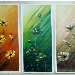 abstract flower, 10 x 21 inch, shyamal pal,10x21inch,canvas,paintings,abstract paintings,flower paintings,acrylic color,GAL01479226430