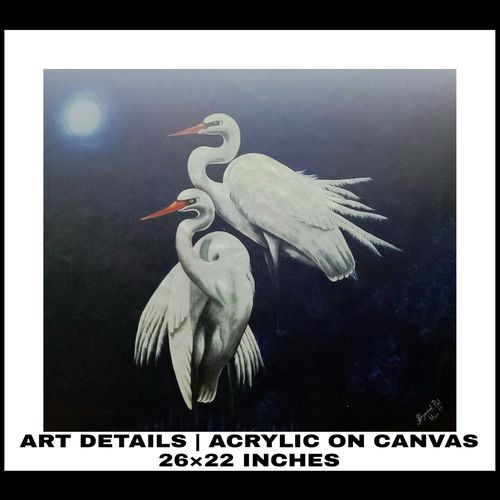 birds, 226 x 22 inch, shyamal pal,226x22inch,canvas,animal paintings,paintings for living room,paintings for living room,acrylic color,GAL01479226435