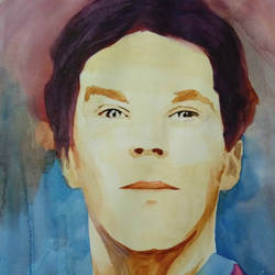 benedict cumberbatch, 9 x 12 inch, neha musale,9x12inch,drawing paper,paintings,portrait paintings,paintings for dining room,paintings for living room,paintings for bedroom,paintings for office,paintings for hotel,watercolor,paper,GAL01557726437