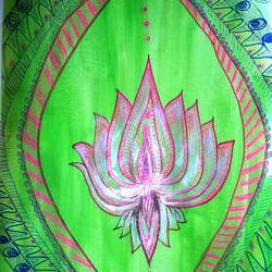 lotus , 10 x 20 inch, minakhi choudhury,10x20inch,thick paper,paintings,flower paintings,paintings for dining room,paintings for living room,pen color,poster color,GAL01441426442