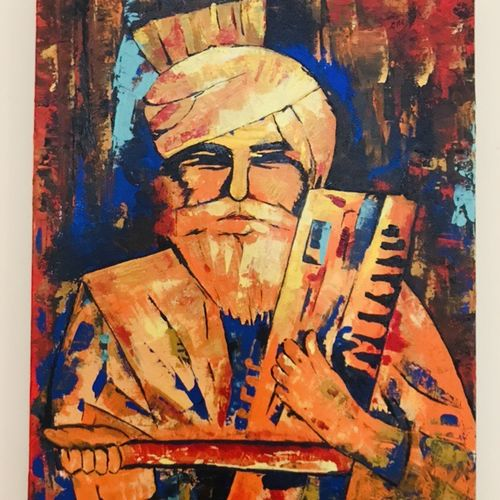 instrumental man, 16 x 20 inch, riya thatte,16x20inch,canvas,paintings,abstract paintings,portrait paintings,paintings for dining room,paintings for living room,paintings for bedroom,paintings for office,paintings for hotel,paintings for school,paintings for hospital,acrylic color,GAL01576926450